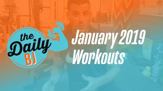 January 2019 Workouts