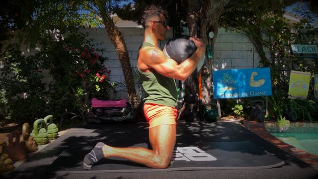 Med Ball Shin Box Raises