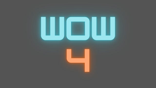 2021 WOW 4 Tutorial