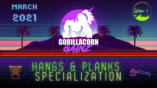 2021 Q1 Wave 3 Hangs & Planks Specialization Plan