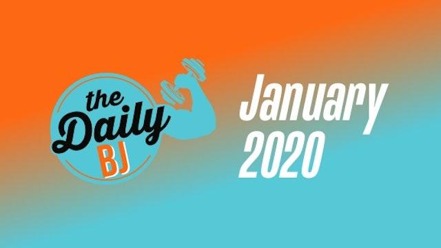 January 2020 Workouts