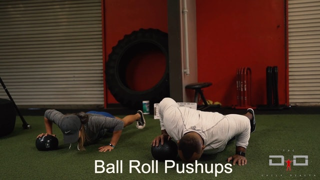 Individual Workout 22 - Ball Roll Pushup