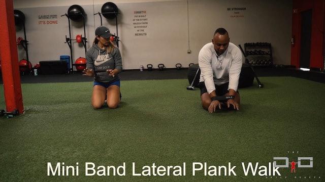 Individual Workout 33 - Mini Band Linear Plank Walk