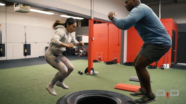 Individual Workout 46 - Box jump to a...