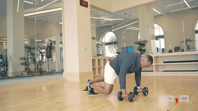 Individual Workout 89 - Sliding Knee Tuck Dumbbell Push