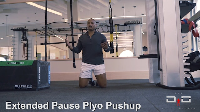 Individual Workout 92 - Extended Pause Plyo Pushup