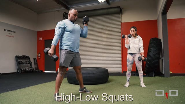 Individual Workout 53 - High-low squats