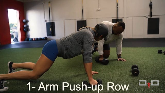 Individual Workout 16- Arm Push Up Row