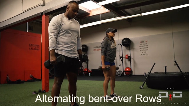 Individual Workout 39 - Alternating Bent Over Rows