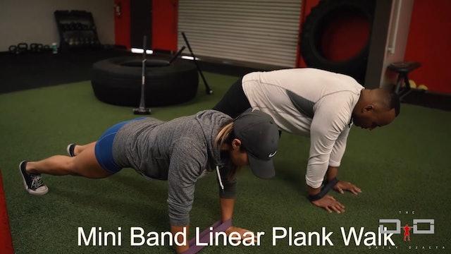 Individual Workout 31 - Mini Band Lateral Plan Wall