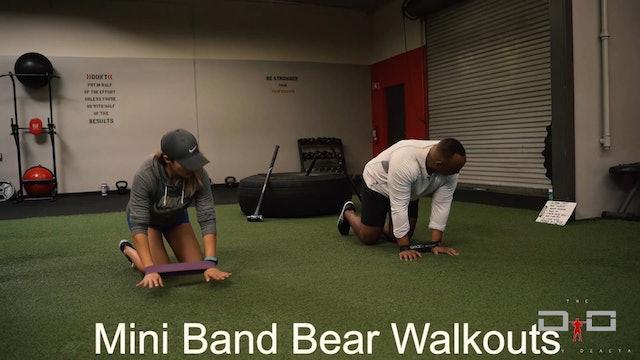 Individual Workout 28 - Mini Band Bear Walkouts