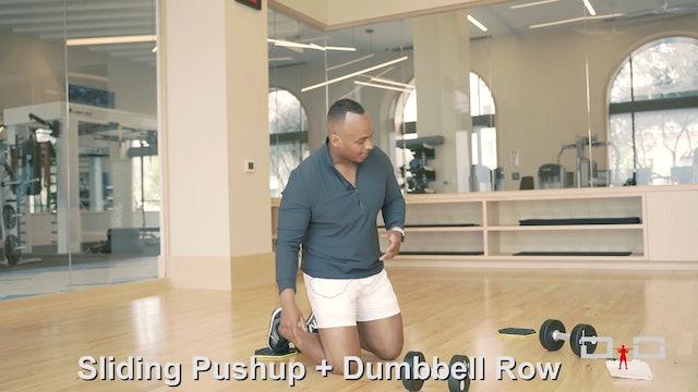 Individual Workout 86 - Sliding Pushup Dumbbell Row