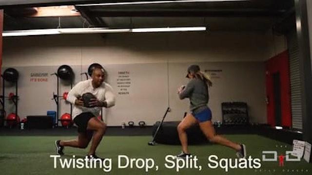 Individual Workout 25 - Twisting Drop Split Squats