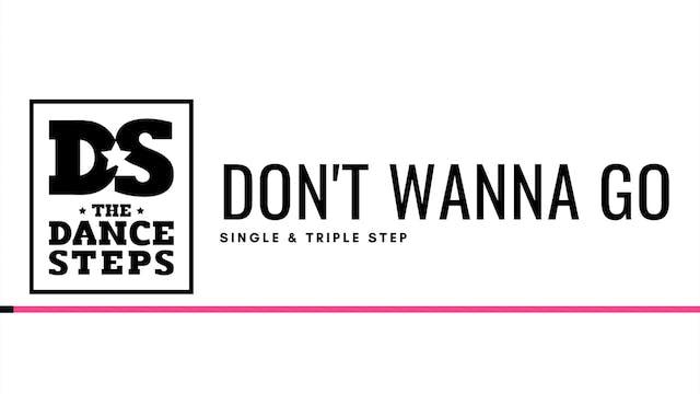 THE DANCESTEPS - Don't Wanna Go