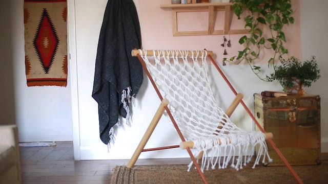 Macramé Hammock Chair