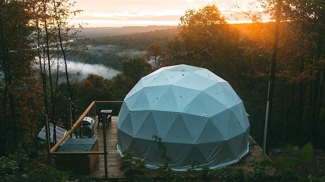 Modern Mountaintop Dome Home