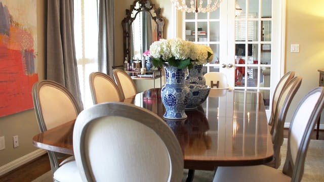 Formal & Family-Friendly Dining Room