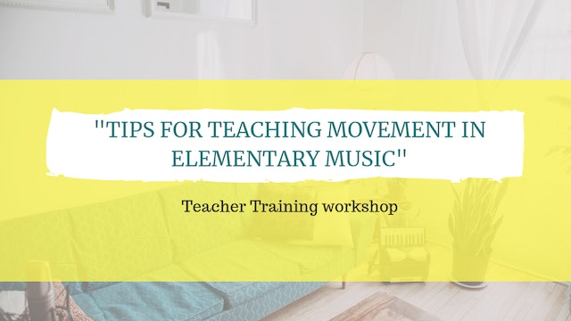 Tips for teaching movement in elementary music