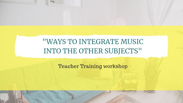 Ways to integrate music into the other subjects
