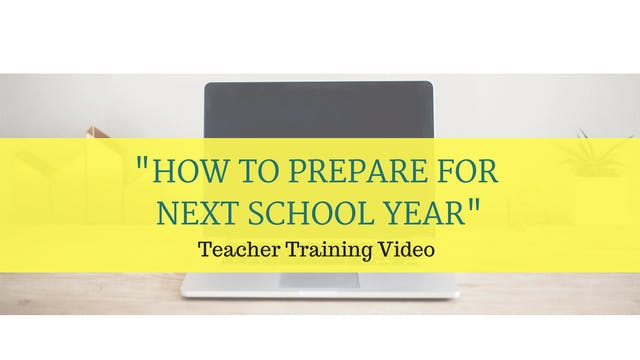 How to plan for next school year