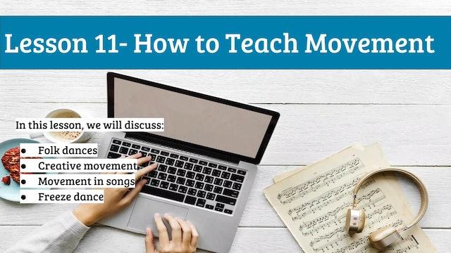EMTB-Lesson 11-teaching movement