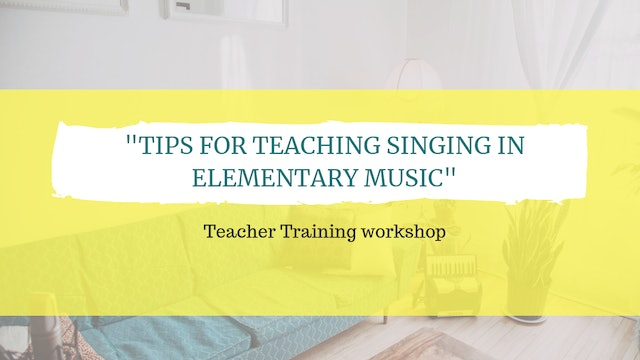 Tips for teaching singing in elementary music
