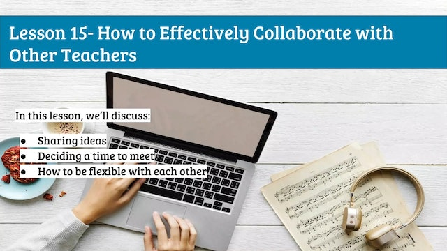 EMTB-Lesson 15-Collaborating with other teachers