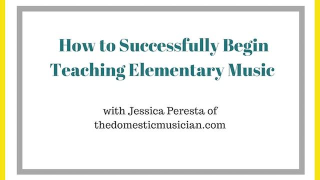 How to Successfully Begin Teaching El...