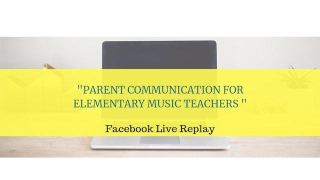 Parent Communication for Elementary Music Teachers