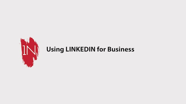 Using LINKEDIN for business.