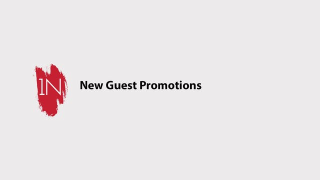 New guest promotions