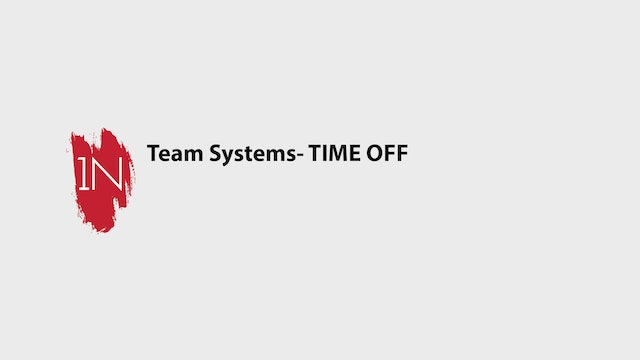 Team systems- TIME OFF