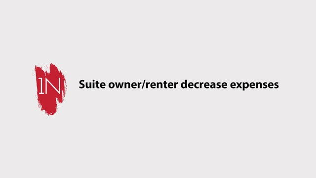 Suite owner/renter decrease your expenses.