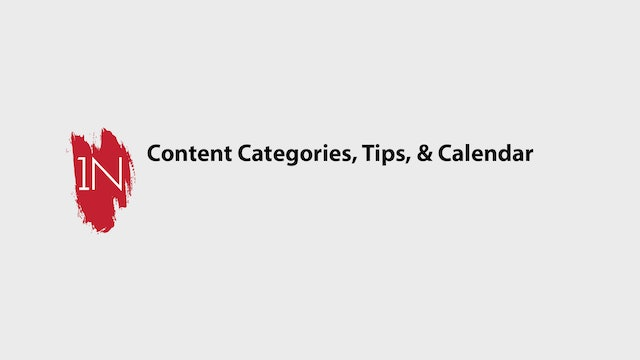 4 Marketing Categories and Calendar