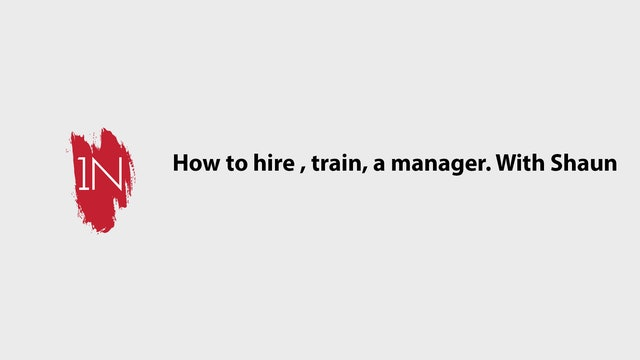 Hiring, Training, and compensating a salon manager