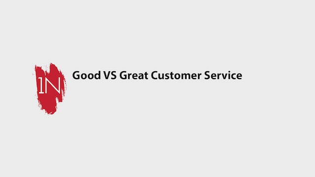 Good Customer Service VS Great Customer Service