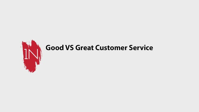 Good Customer Service VS Great Custom...
