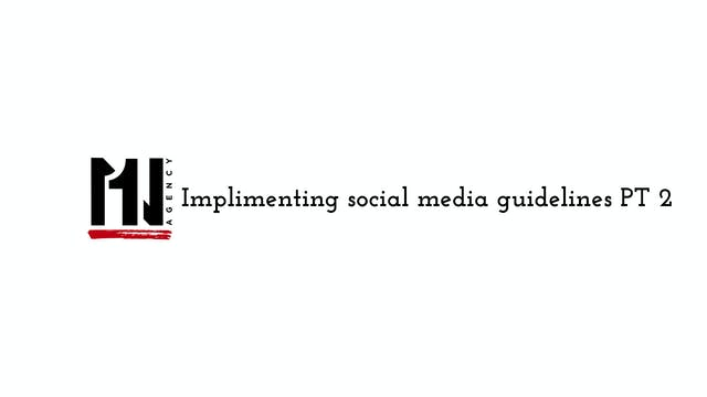 Implementing Social Media Guidelines ...