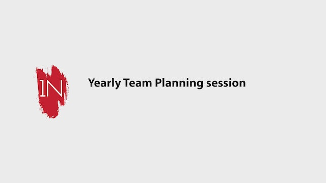 How to have a yearly planning session with your team