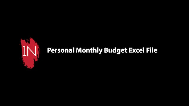 Personal Monthly Budget VIDEO