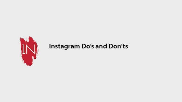 Instagram Do's and Dont's for engagement