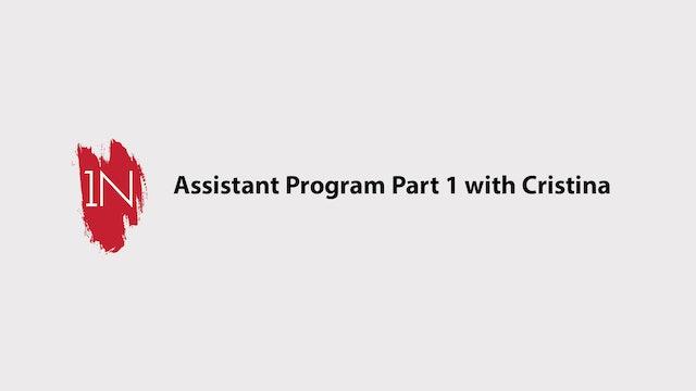 Assistant program #1 with Cristina