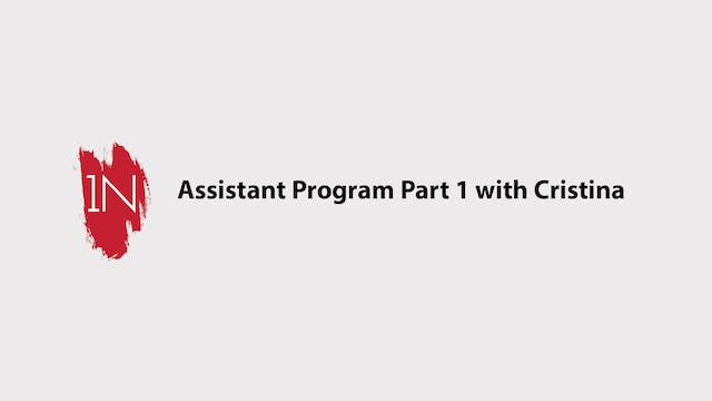 Assistant program #1 with Cristina
