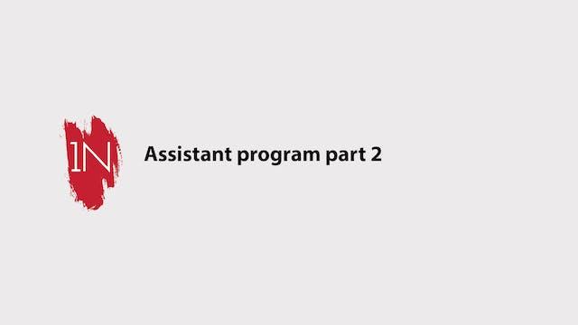 Assistant program part 2