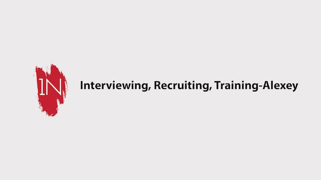 Interviewing, recruiting, and trainin...