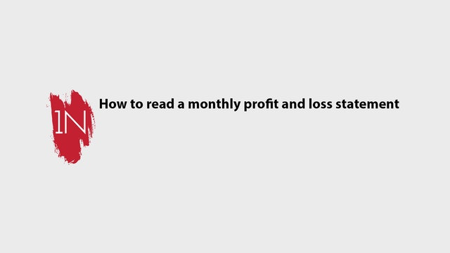 How to use a Monthly profit and loss sheet and balance sheet