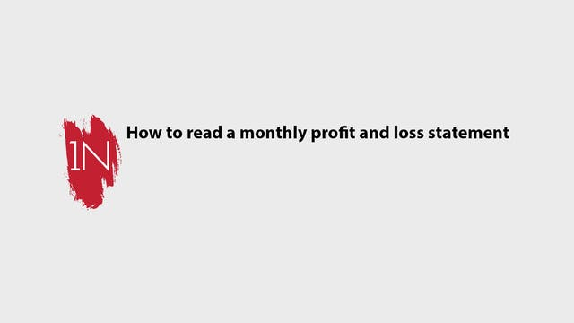 How to use a Monthly profit and loss ...