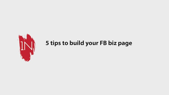 5 Tips to growing your biz on FB