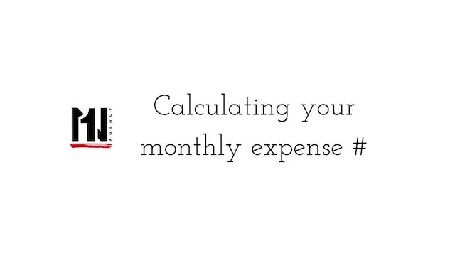 Calculating your monthly expense #