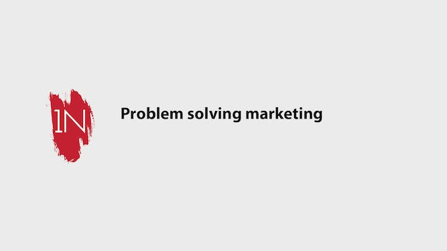 Problem solving marketing